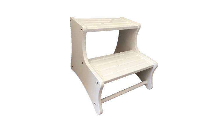 Scaletta legno due gradini